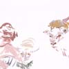 Watercolor Painting of Child with Sheep - Original art for saleby Claudia Kleefeld
